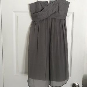 EUC JCrew strapless twist front cocktail dress